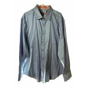 Robert Graham X Blue White Stripe Shirt LS 4XL